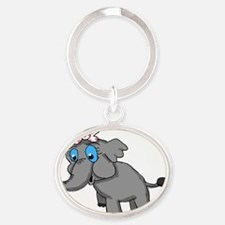 Ella Elephant Oval Keychain