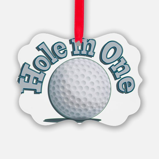 Hole in One (txt) Ornament