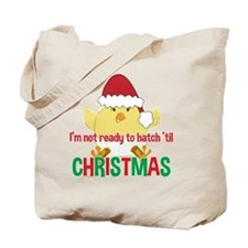Hatching Chick Due in December Christmas Tote Bag