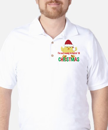 Hatching Chick Due in December Christma Golf Shirt