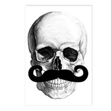 Mustache Skull Postcards (Package of 8)