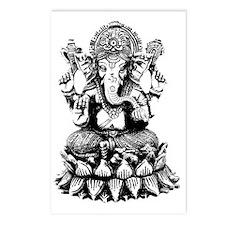 Ganesh - Hindu Diety/God Postcards (Package of 8)