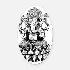 Ganesh - Hindu Diety/God Oval Car Magnet