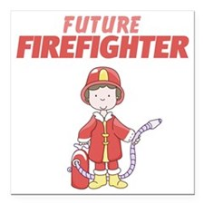 """Future Firefighter Square Car Magnet 3"""" x 3"""""""
