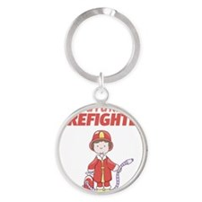 Future Firefighter Round Keychain