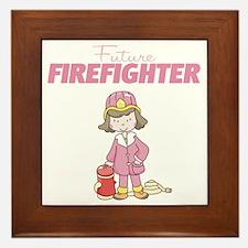 Future Firefighter Framed Tile
