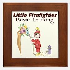 Little Firefighter Basic Training Framed Tile