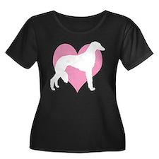 Saluki Pink Heart T