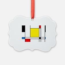 Mondrian Lines Ornament