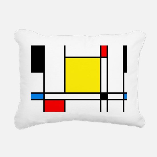 Mondrian Lines Rectangular Canvas Pillow