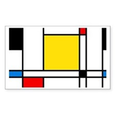 Mondrian Lines Decal