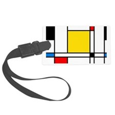 Mondrian Lines Luggage Tag