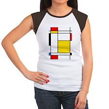 Mondrian Lines Women's Cap Sleeve T-Shirt