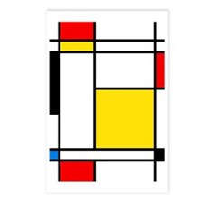 Mondrian Lines Postcards (Package of 8)