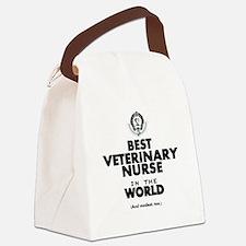 Best 2 Veterinary Nurse copy Canvas Lunch Bag