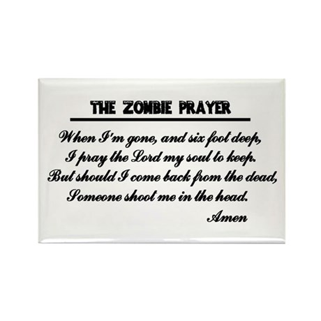 Zombie Prayer Rectangle Magnet