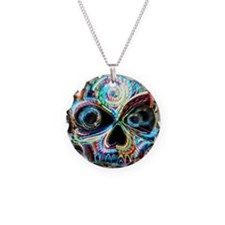 neon skull Necklace