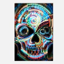 neon skull Postcards (Package of 8)