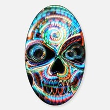 neon skull Decal