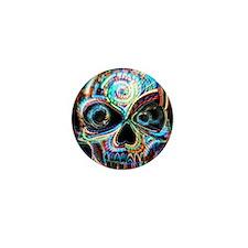 neon skull Mini Button