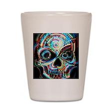 neon skull Shot Glass