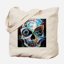 neon skull Tote Bag