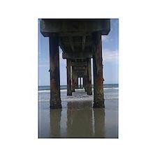 Anastasia Island Pier Rectangle Magnet
