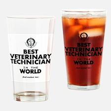 Best 2 Veterinary Technician copy Drinking Glass