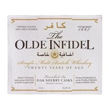 Olde Infidel Main Logo Throw Blanket