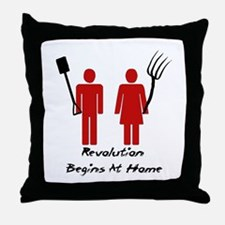 Revolution Begins At Home Throw Pillow