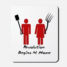 Revolution Begins At Home Mousepad