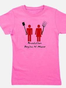 Revolution Begins At Home Girl's Tee
