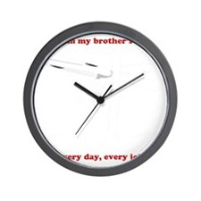 Yes, I am my brother's keeper Wall Clock