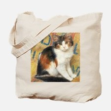 Calico Kitten Cat Tote Bag