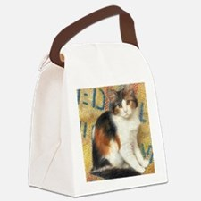 Calico Kitten Cat Canvas Lunch Bag