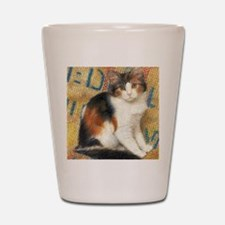 Calico Kitten Cat Shot Glass