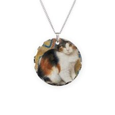 Calico Kitten Cat Necklace
