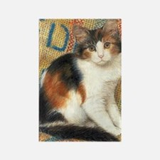 Calico Kitten Cat Rectangle Magnet