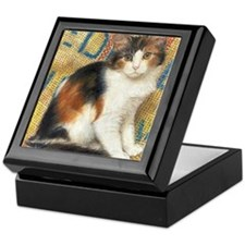 Calico Kitten Cat Keepsake Box