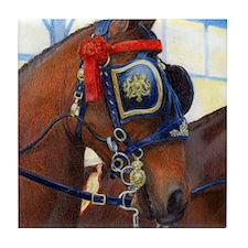 Cleveland Bay Horse Tile Coaster