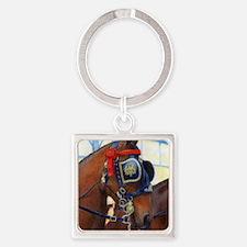Cleveland Bay Horse Square Keychain