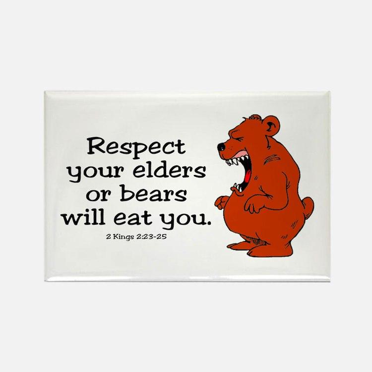 Respect Elders Rectangle Magnet