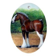 Clydesdale Draft Horse Oval Ornament