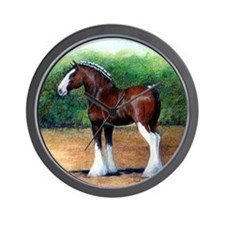 Clydesdale Draft Horse Wall Clock