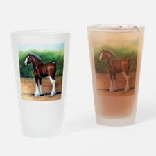 Clydesdale Draft Horse Drinking Glass
