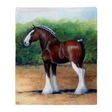 Clydesdale Draft Horse Throw Blanket