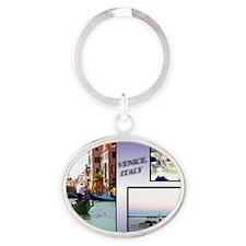 Views Of Venice Italy Oval Keychain