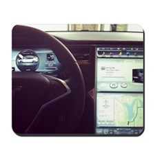 Gangster interior of a #tesla Mousepad
