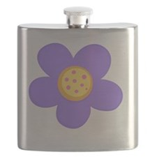 Purple Flower Flask