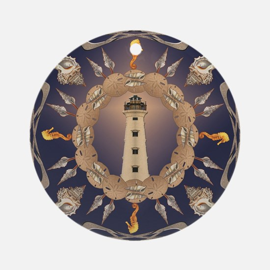 Lighthouse Round Ornament
